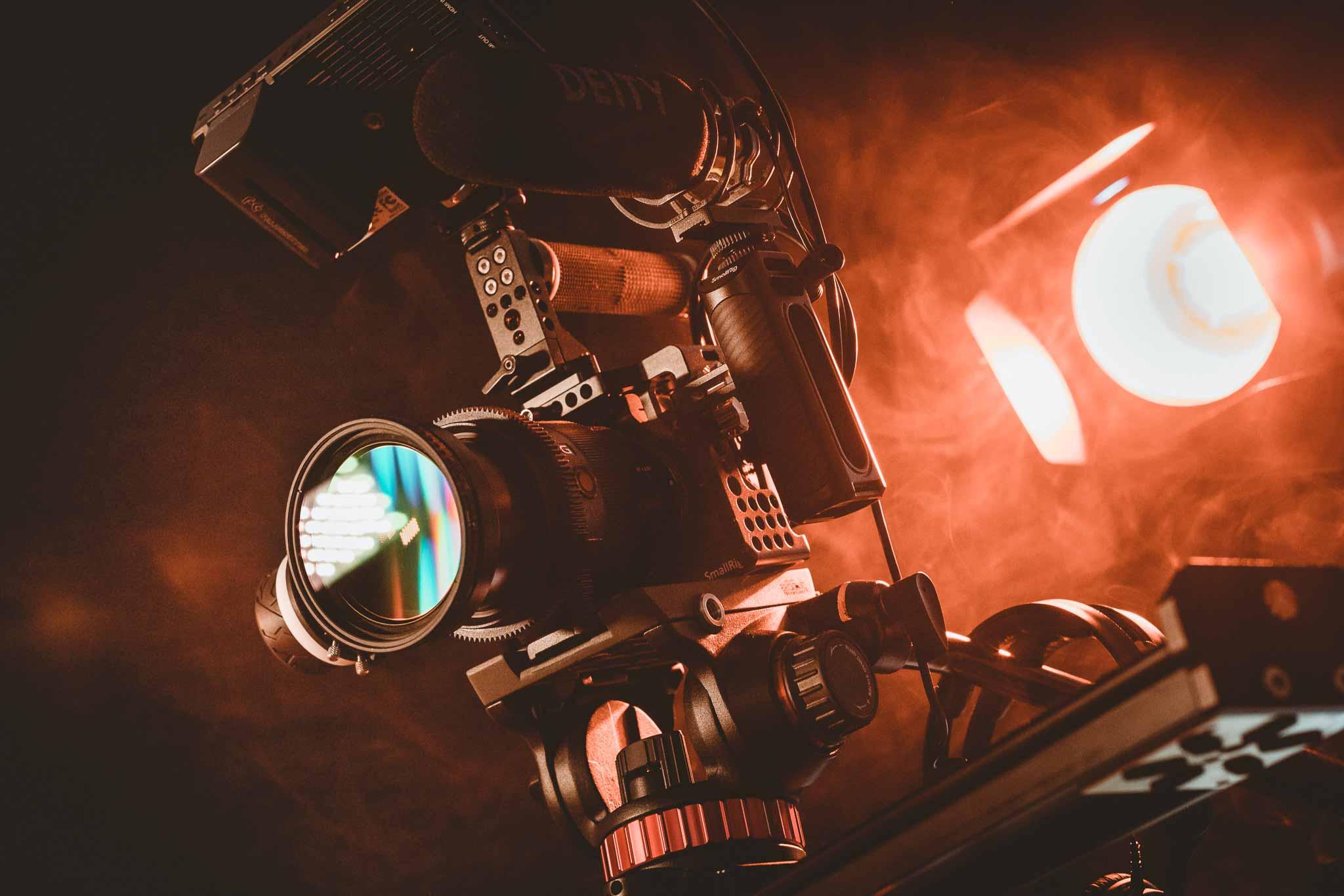 videocamera met lamp